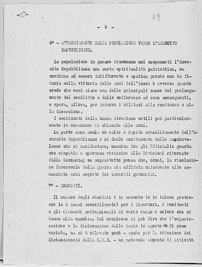 Image from object titled Notizia tratta dal Notiziario della Guardia Nazionale Repubblicana del giorno 01-10-1944