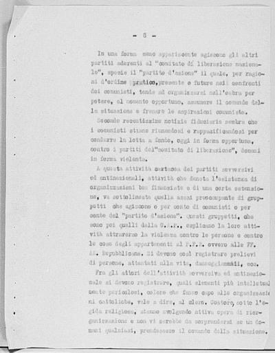 Image from object titled Notizia tratta dal Notiziario della Guardia Nazionale Repubblicana del giorno 06-10-1944