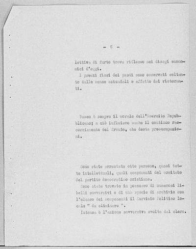 Image from object titled Notizia tratta dal Notiziario della Guardia Nazionale Repubblicana del giorno 07-10-1944