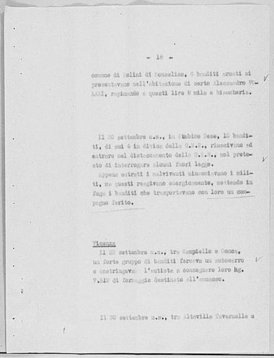 Image from object titled Notizia tratta dal Notiziario della Guardia Nazionale Repubblicana del giorno 10-10-1944