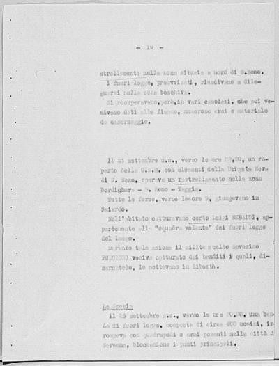 Image from object titled Notizia tratta dal Notiziario della Guardia Nazionale Repubblicana del giorno 14-10-1944