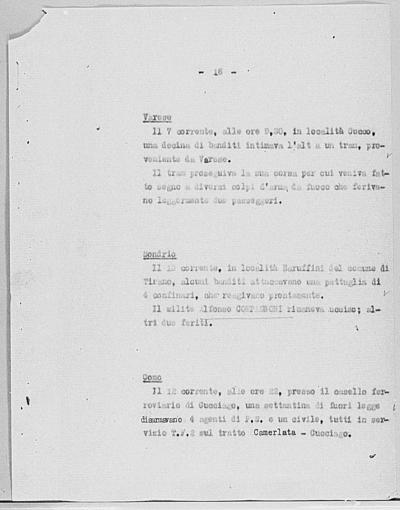 Image from object titled Notizia tratta dal Notiziario della Guardia Nazionale Repubblicana del giorno 18-10-1944