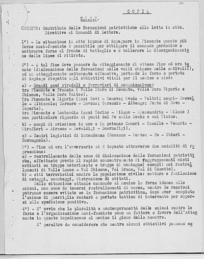 Image from object titled Notizia tratta dal Notiziario della Guardia Nazionale Repubblicana del giorno 22-10-1944