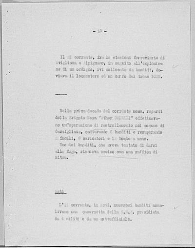 Image from object titled Notizia tratta dal Notiziario della Guardia Nazionale Repubblicana del giorno 29-10-1944