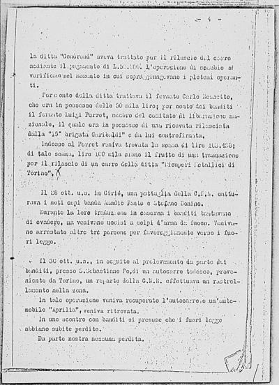 Image from object titled Notizia tratta dal Notiziario della Guardia Nazionale Repubblicana del giorno 15-11-1944