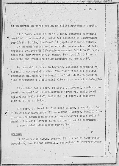 Image from object titled Notizia tratta dal Notiziario della Guardia Nazionale Repubblicana del giorno 20-11-1944
