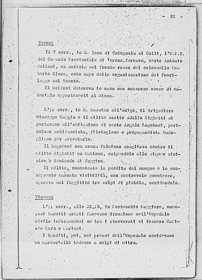 Image from object titled Notizia tratta dal Notiziario della Guardia Nazionale Repubblicana del giorno 21-11-1944