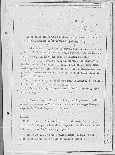 Image from object titled Notizia tratta dal Notiziario della Guardia Nazionale Repubblicana del giorno 24-11-1944