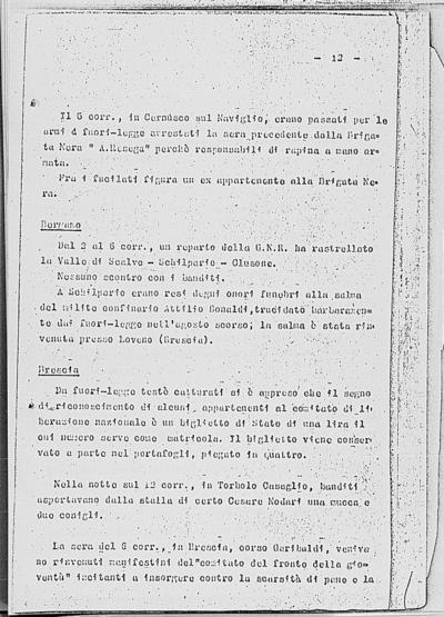 Image from object titled Notizia tratta dal Notiziario della Guardia Nazionale Repubblicana del giorno 20-12-1944