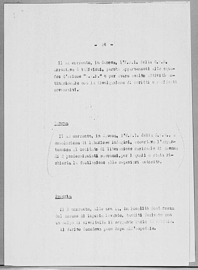 Image from object titled Notizia tratta dal Notiziario della Guardia Nazionale Repubblicana del giorno 24-01-1945