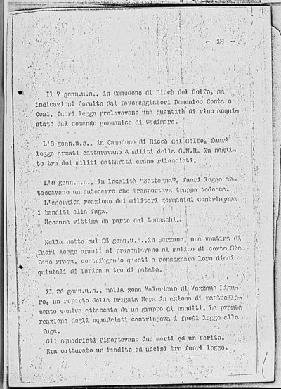 Image from object titled Notizia tratta dal Notiziario della Guardia Nazionale Repubblicana del giorno 05-02-1945