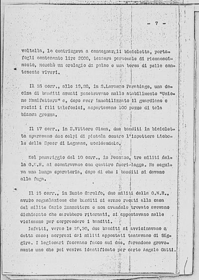 Image from object titled Notizia tratta dal Notiziario della Guardia Nazionale Repubblicana del giorno 26-02-1945