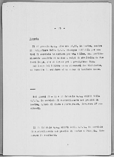 Image from object titled Notizia tratta dal Notiziario della Guardia Nazionale Repubblicana del giorno 03-03-1945