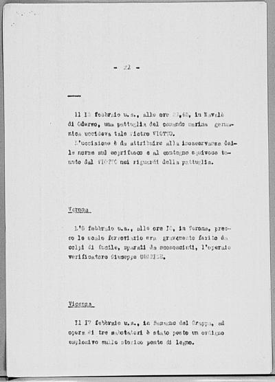 Image from object titled Notizia tratta dal Notiziario della Guardia Nazionale Repubblicana del giorno 05-03-1945