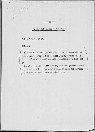 Image from object titled Notizia tratta dal Notiziario della Guardia Nazionale Repubblicana del giorno 07-03-1945