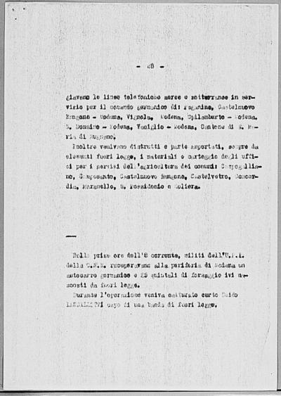 Image from object titled Notizia tratta dal Notiziario della Guardia Nazionale Repubblicana del giorno 24-03-1945