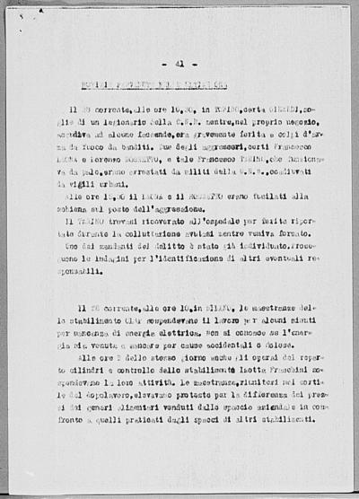 Image from object titled Notizia tratta dal Notiziario della Guardia Nazionale Repubblicana del giorno 27-03-1945
