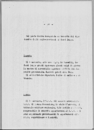 Image from object titled Notizia tratta dal Notiziario della Guardia Nazionale Repubblicana del giorno 29-03-1945