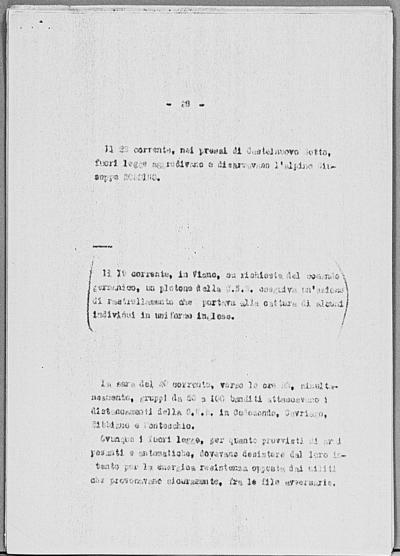 Image from object titled Notizia tratta dal Notiziario della Guardia Nazionale Repubblicana del giorno 30-03-1945