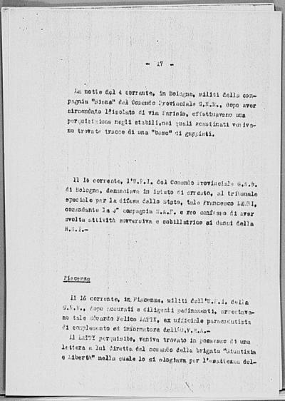 Image from object titled Notizia tratta dal Notiziario della Guardia Nazionale Repubblicana del giorno 31-03-1945