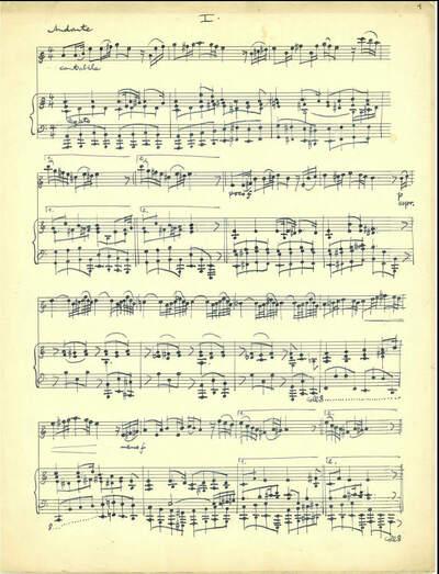 Kammersonate für Violine mit Streichorchester