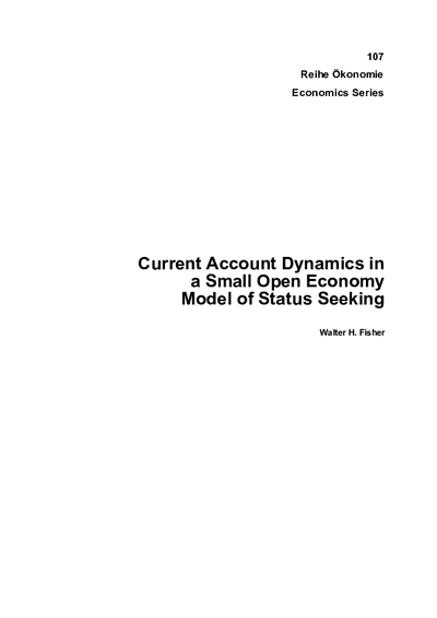 Current Account Dynamics in a Small Open Economy Model of Status Seeking
