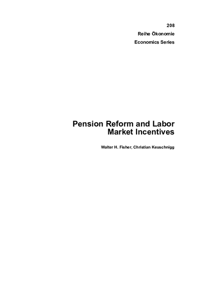 Pension Reform and Labor Market Incentives
