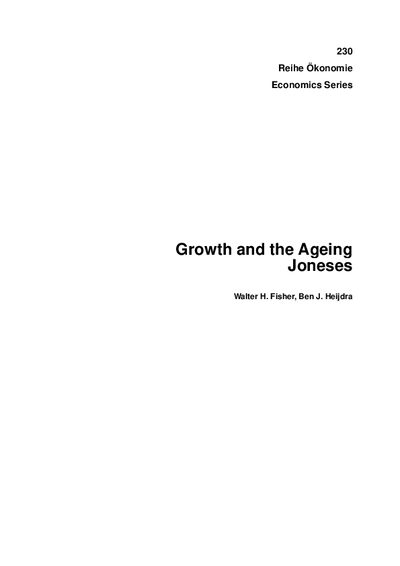 Growth and the Ageing Joneses