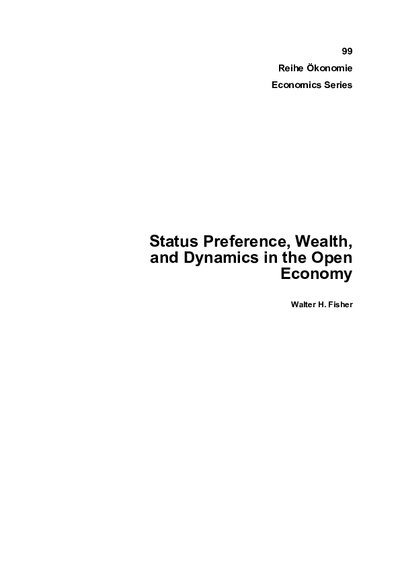 Status Preference, Wealth, and Dynamics in the Open Economy