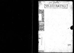 Per la tragicomedia in rima libera, di Simone Balsamino, dedicata all'illustrissimo marchese de la Rouere