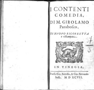 I contenti comedia, di M. Girolamo Parabosco