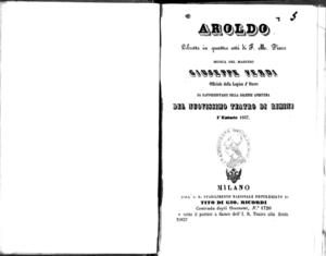 Aroldo : libretto in quattro atti