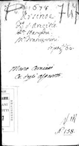 Arsinoe drama per musica da recitarsi nel Teatro di S. Angelo l'anno 1678. Dedicato all'eccellenza di Antonio Teodoro Triuultio ...