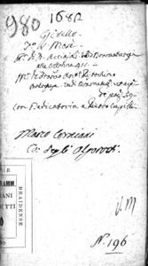 Il Girello drama per musica da rappresentarsi nel Teatro a S. Moisè l'anno 1682. Dedicato al clarissimo signor Pietro Cupilli del sig. Antonio cittadino originario veneto