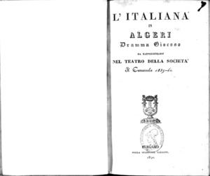 L'italiana in Algeri : dramma giocoso
