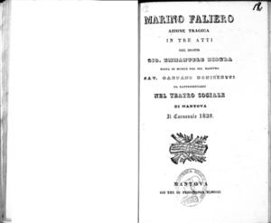 Marino Faliero : azione tragica in tre atti