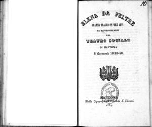 Elena da Feltre : dramma tragico in tre atti
