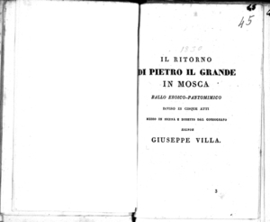 La Straniera melodramma da rappresentarsi nel Teatro Riccardi la fiera 1830