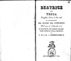 Beatrice di Tenda : tragedia lirica in due atti