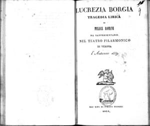 Lucrezia Borgia : tragedia lirica