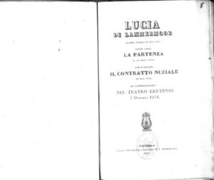 Lucia di Lammermoor : dramma tragico in due parti