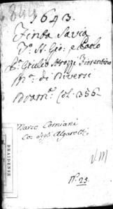 La finta sauia. Drama di Giulio Strozzi