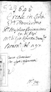 Ercole in Lidia dramma del signor conte Maiolino Bisaccioni gentil'huomo della Camera del re christianissimo. Rappresentata nel Teatro Nouissimo nell'anno 1645