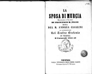 La Sposa di Murcia : melodramma in tre atti