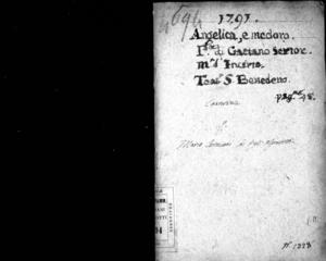 Angelica e Medoro, dramma per musica del sig. ab. Gaetano Sertor, da rappresentarsi nel nobilissimo Teatro Venier in San Benedetto il carnovale dell'anno 1791