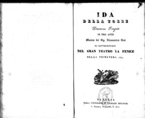 Ida della Torre : dramma tragico in tre atti
