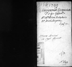 Semiramide riconosciuta, dramma per musica di Artino Corasio pastore arcade da rappresentarsi nel famosissimo Teatro Grimani di S. Gio. Grisostomo nel carnevale del 1729