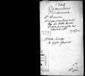 Tamerlano, dramma per musica da rappresentarsi nel Teatro di San Samuele il carnevale dell'anno 1754