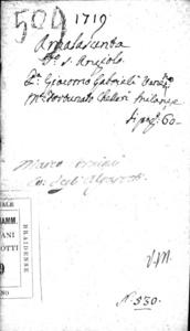 Amalasunta drama per musica da rappresentarsi nel Teatro di S. Angelo nel carnevale dell'anno 1719. Dedicato a sua eccellenza. Il signor Gio. Matthia ... conte di Scholenburg ..