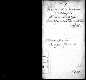 Il pentimento generoso, drama per musica da rappresentarsi nel Teatro di Sant'Angelo per ultim' Opera del carnevale 1719 di Domenico Lalli. Dedicato a sua eccellenza Il sig. D. Manuello Lucchesi [...]